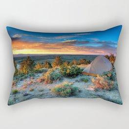 The Benefits of Camping Landscape Rectangular Pillow