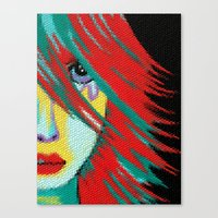 indie Canvas Prints featuring Mosaic Indie by Sartoris ART