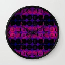 Gemini's Twins Wall Clock