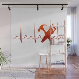 CARPENTER HEARTBEAT Wall Mural