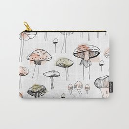Mushroom harvest - pink and gree Carry-All Pouch