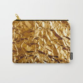 Crumpled Golden Foil Carry-All Pouch