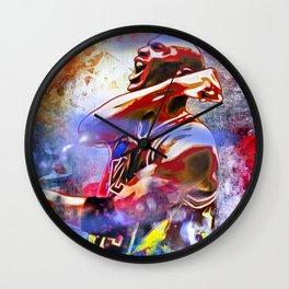 M. Jordan Painted Wall Clock