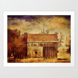 Silence at the Farm Art Print