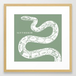 Slytherin Maximal House Pride Framed Art Print