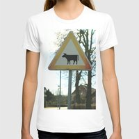 cows T-shirts featuring Attention cows by Falko Follert Art-FF77
