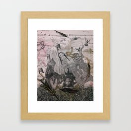 cages,  people and birds Framed Art Print