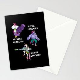 Unicorn Uniform Amry Military rainbow Stationery Cards