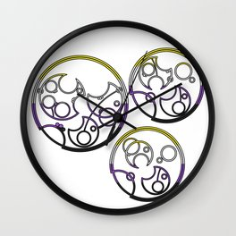 Circular Gallifreyan: Not a boy. Not a girl. Not your problem! Wall Clock