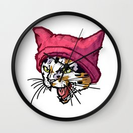 The Cat in the Hat (Calico) Wall Clock