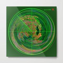 MindMap.02 - Reality Radar Metal Print