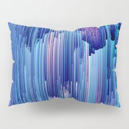 Beglitched Waterfall - Abstract Pixel Art Pillow Sham