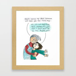 Caring gran Framed Art Print