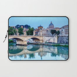 Emanuele II bridge and St. Peter's Basilica - Rome, Italy Laptop Sleeve