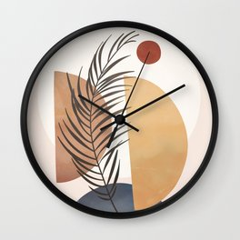 Minimal Abstract Shapes No.50 Wall Clock