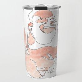 Blind Line Buddha Travel Mug