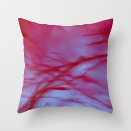 Pink Tree Blur Throw Pillow