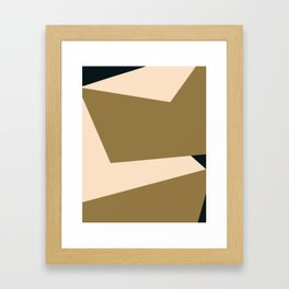 Minimal abstract geometric painting Framed Art Print