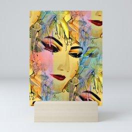 Sensual Female Portrait  Watercolor Mini Art Print