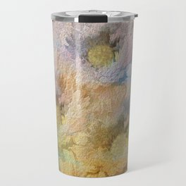 Soft Painted Rainbow Daisies Abstract Travel Mug