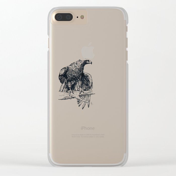 Falcon illustration Clear iPhone Case