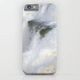 Iguazu Iguassu Waterfall Detail, Brazil Argentina iPhone Case