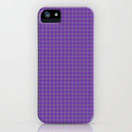 Purple Violet Grey Houndstooth Pattern iPhone Case
