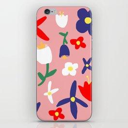 Large Handdrawn Bacchanal Floral Pop Art Print iPhone Skin