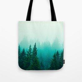 Fog Foggy Samish Forest Woods Mountain Northwest Washington Landscape Tote Bag