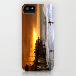 Surfer Sunset H.B. Pier iPhone Case