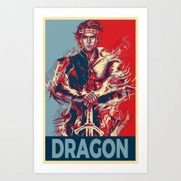 Elect the Dragon Art Print