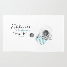 Coffee is always a good idea Rug