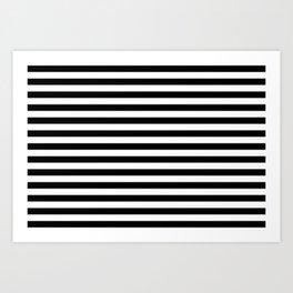 Small Black and White Stripes Pattern Art Print