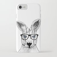 kangaroo iPhone & iPod Cases featuring kangaroo by  Steve Wade ( Swade)