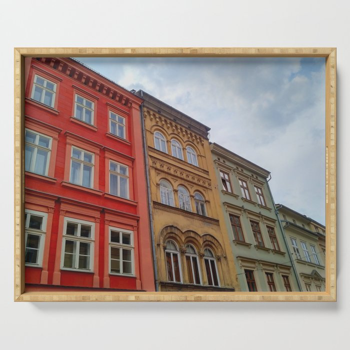 Krakow Beautiful Colorful Houses Serving Tray