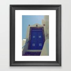 Santorini Door VII Framed Art Print