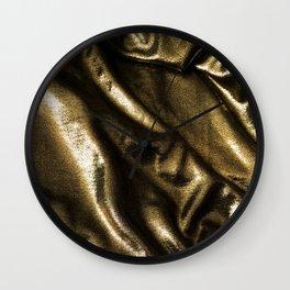 Gold Fabric Wall Clock
