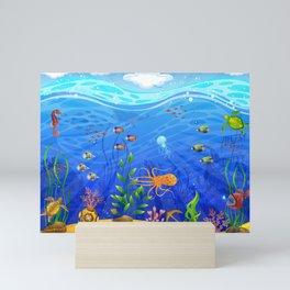 Underwater world Mini Art Print