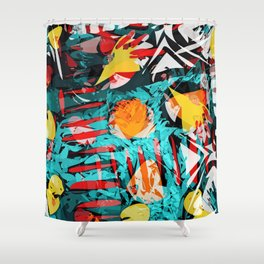 abstract colored chaos Shower Curtain