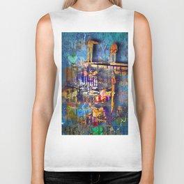 New York City Abstract Artist Gift 3 Biker Tank