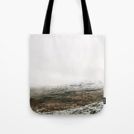 White winter mountain landscape | Norway travel photography print | Trolltunga Wanderlust art Tote Bag