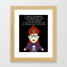 Monster On My Head Framed Art Print