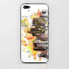 Los Angeles Cityscape Skyline Painting iPhone & iPod Skin