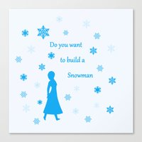 snowman Canvas Prints featuring Snowman by BlackBlizzard