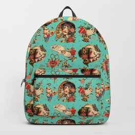 Makers Gonna Make Pattern Teal Backpack
