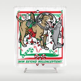 Swim Beyond Misconceptions - Happy Holidays! Shower Curtain
