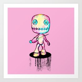 Crazy Voodoo Doll With A Pin Art Print