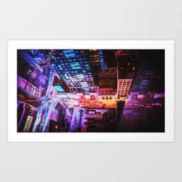 New York City Blade Runner Art Print