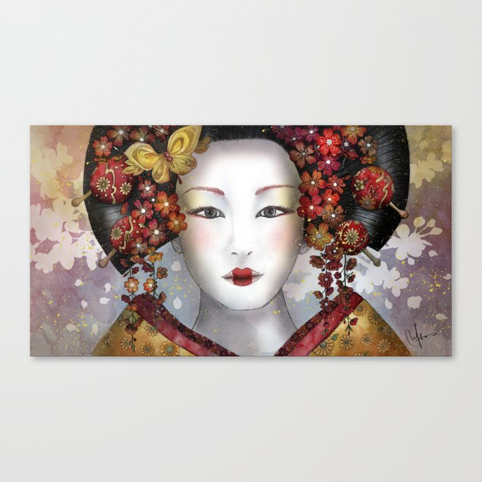 Becoming a Geisha  Canvas Print