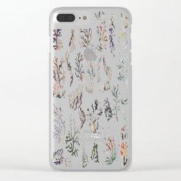 paper corals Clear iPhone Case